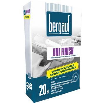 Шпатлевка цементная базовая Bergauf Uni Finish Белая 20 кг