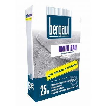 Штукатурка цементная  для фасада и цоколя Bergauf Unter Bau 25 кг