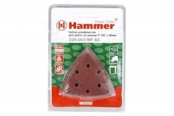Набор шлифлистов Hammer Flex 220-003 MF-AC 003 Р 100  по 5 шт. по дереву, 80 мм